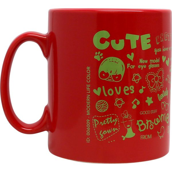 Modern-life Color rouge, Mug en sérigraphie 300 ml