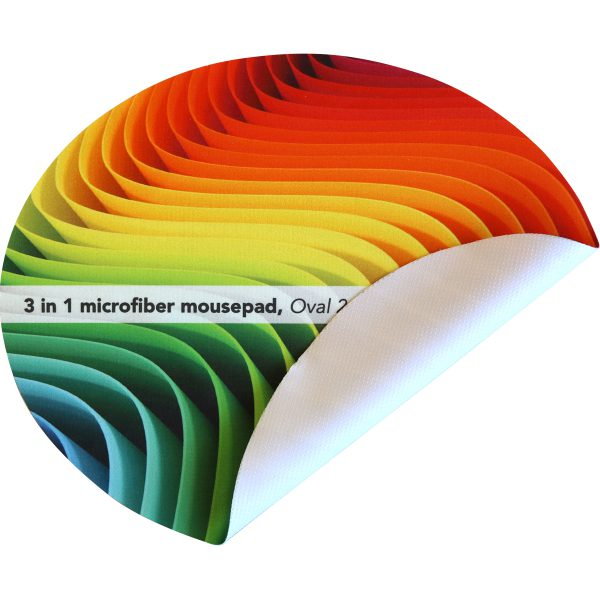 Oval 240 x 200 mm - Tapis microfibre 3 in 1