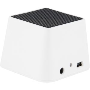 SOUND-box, haut-parleur Bluetooth carré blanc