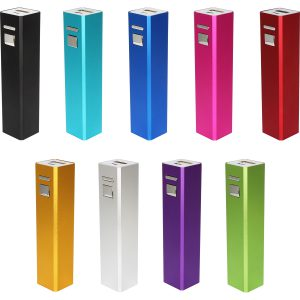 SQUARE-tube, chargeur 2600 mAh